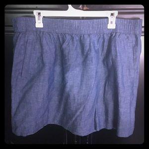 LOFT Chambray knee length skirt with pockets